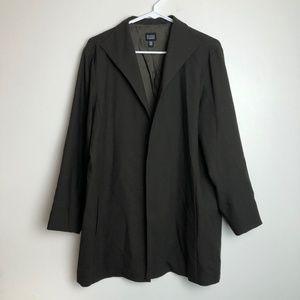 Eileen Fisher Army Green Boiled Wool Coat